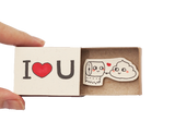 "LV006 - ""I love you"" Poo Toilet Paper Matchbox Card"
