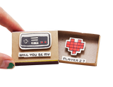 "LV008 - ""Will you be my Player 2?"" Matchbox Card"