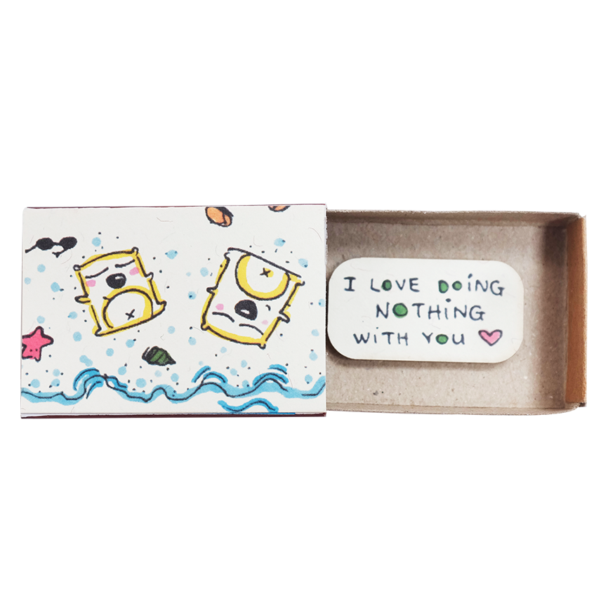 "LV011 - ""I love doing nothing with you"" Card"