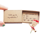 "LV018 - ""Will You Be My Valentine?"" Matchbox Card"