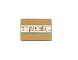 "LV020 - ""I love you to the moon and back again"" Light Brown Matchbox Card"
