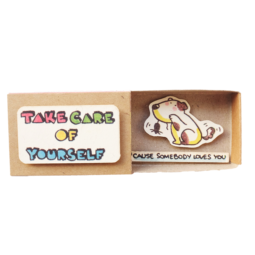 "LV024 - ""Take care of yourself"" Matchbox Card"