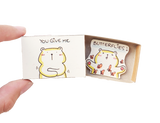 "LV027 - ""You Give Me Butterflies"" Matchbox Card"