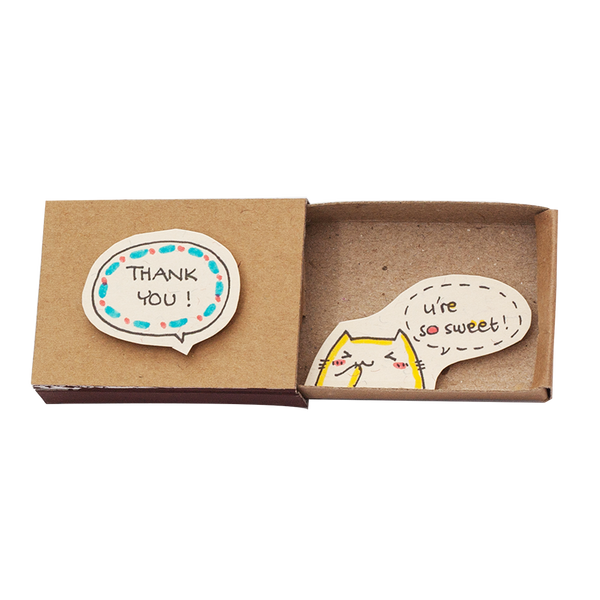 "LV035 - Thank you ""You're so sweet"" Matchbox"
