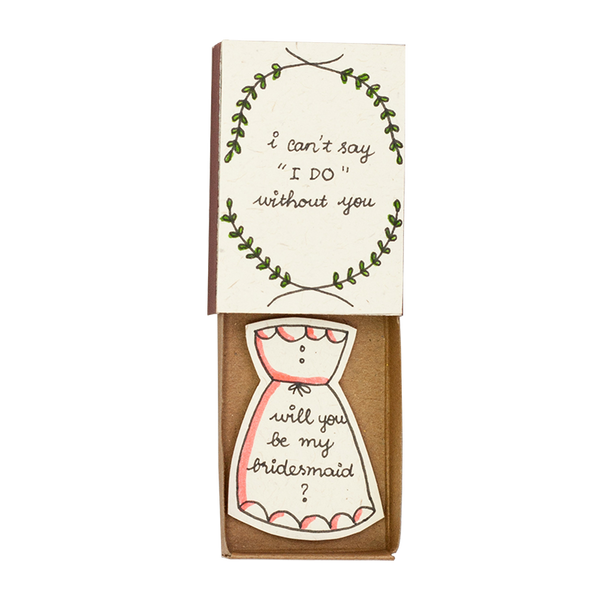 "LV041 - ""Will you be my Bridesmaid"" Matchbox Card"
