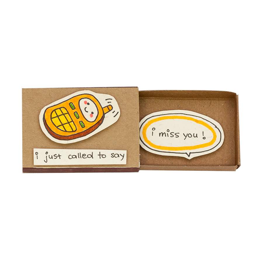 "LV043 - ""I Just Call To Say I Miss You"" Matchbox Card"