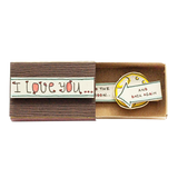 "LV069 - ""I love you to the moon and back again"" Dark Brown Matchbox Card"