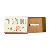 LV074 - This is not a joke, I Love You Matchbox Card