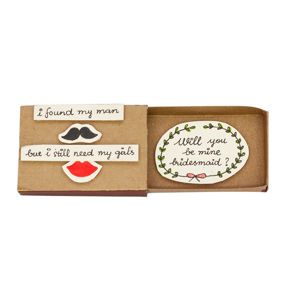 "LV087 - ""Will you be my Bridesmaid?"" Matchbox Card"