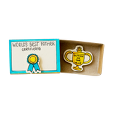 OT025 - World's Best Father Certificate Matchbox