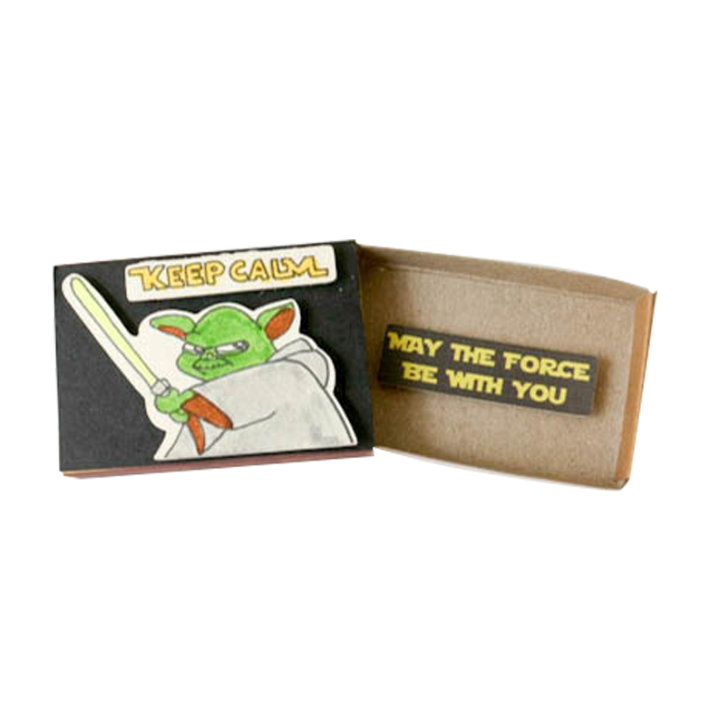OT034 - Star War Card May the force be with you