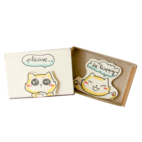 "OT041 - ""Please be Happy"" Friendship Matchbox Card"