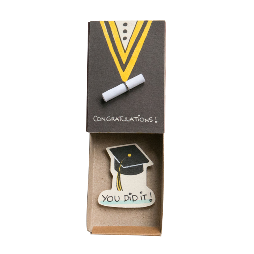 OT047 - Congratulations You Did it Card Matchbox
