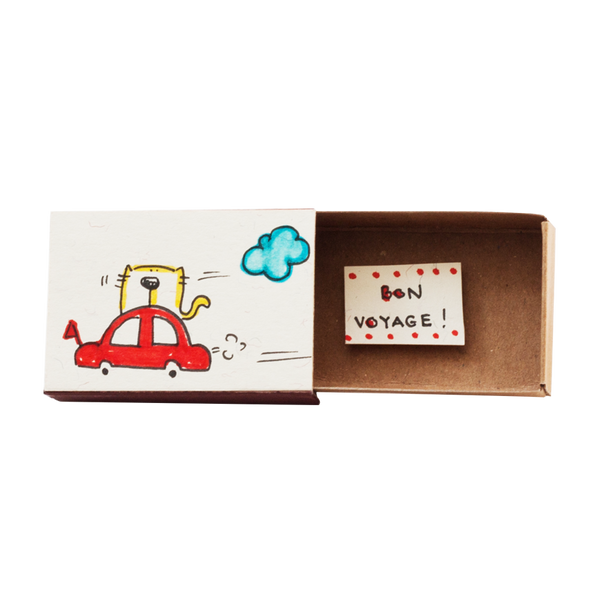 "OT063 - Encouragement Card ""Bon Voyage"" Matchbox"