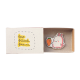 "OT064 - ""Best Friends Forever"" Rabbit Carrot Matchbox"