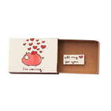 "OT066 - ""I'm saving all my love for you"" Piggy Bank Matchbox"