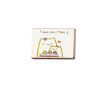 "OT073 - ""I love you mom"" with cupcake flowers Matchbox"