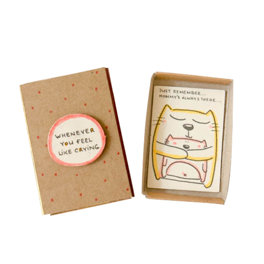 "OT078 - ""Mommy's always there"" Matchbox Card"