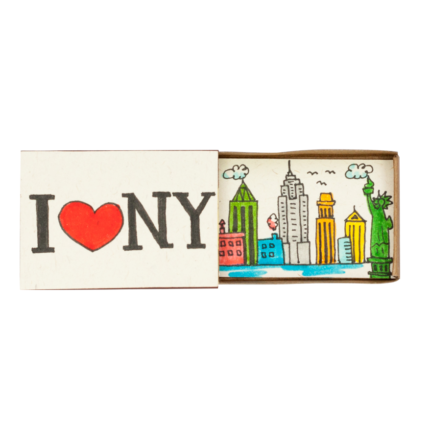 "OT080 - ""I love NY"" Matchbox Card"