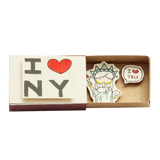 "OT081 - ""I love NY statue liberty"" Matchbox Card"