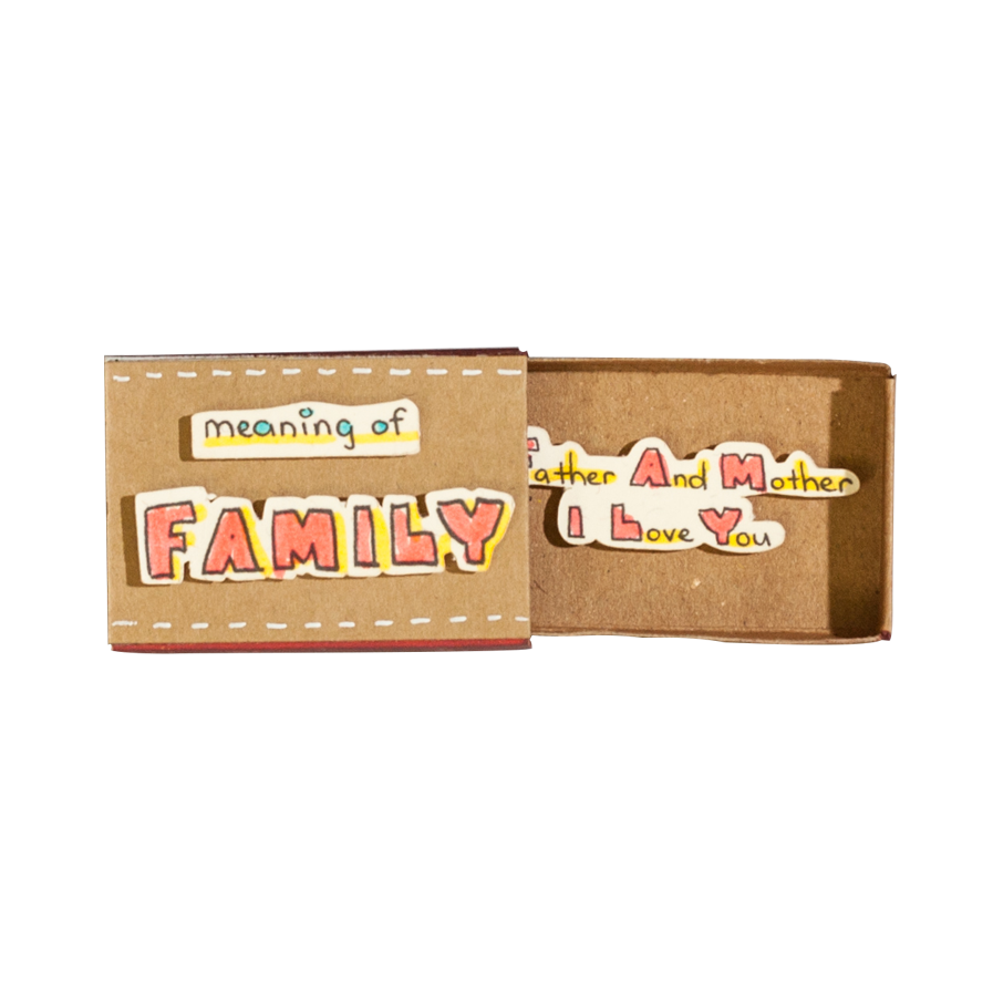 OT088 - Meaning of Family Matchbox Card