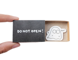 "OT093 - ""Do Not Open Boo!"" Ghost Matchbox Card"