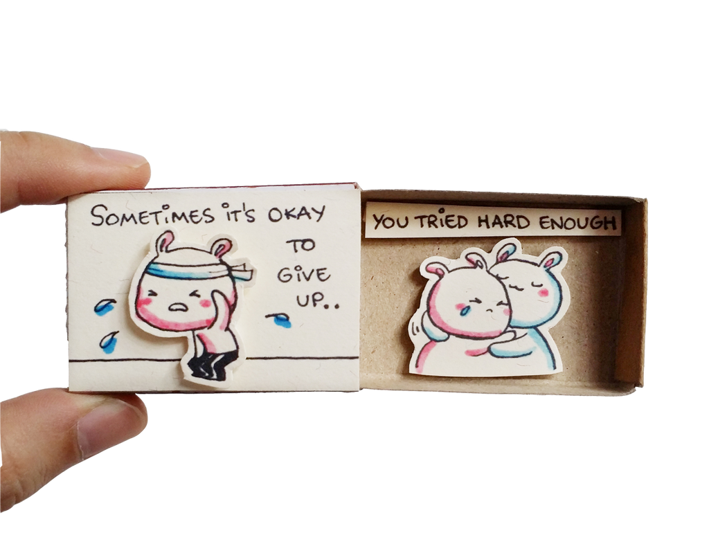 "Matchbox card ""Sometimes it's okay to give up"" - OT110"
