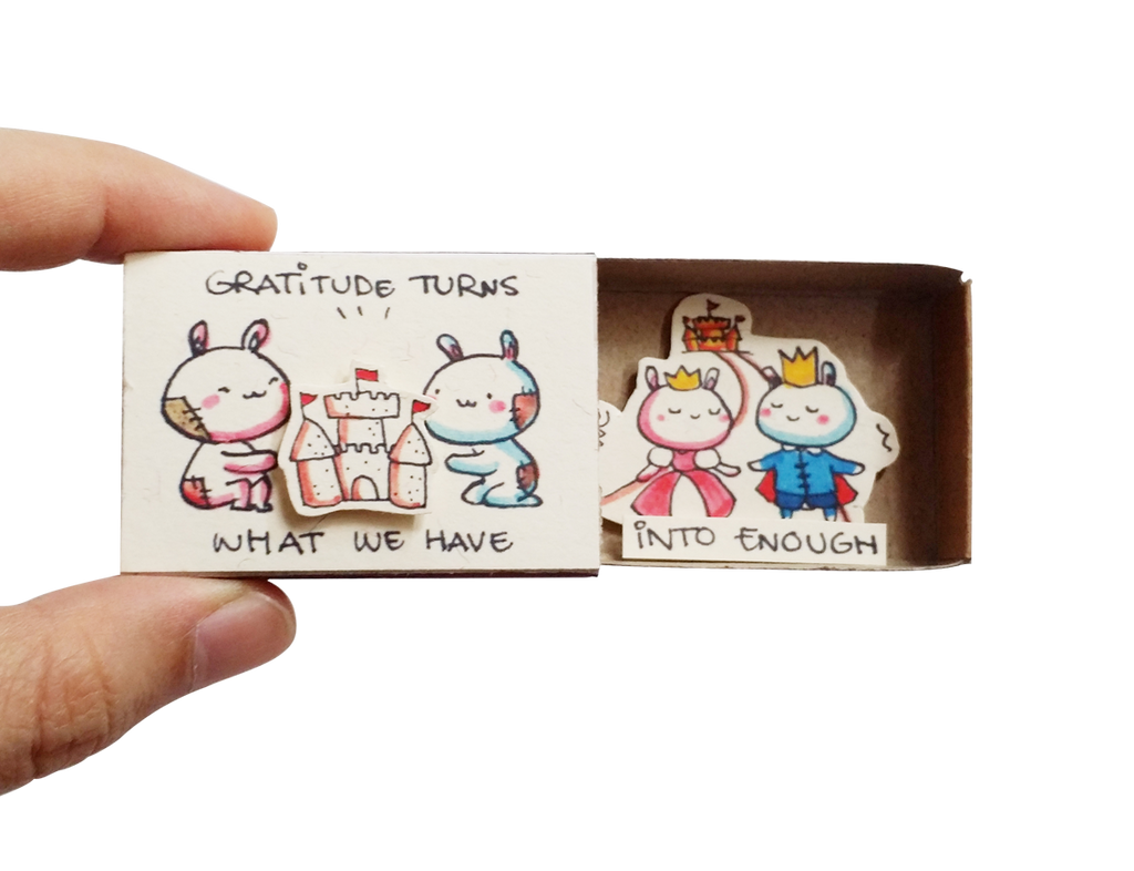 "Matchbox card ""Graditude turns what we have"" - OT120"