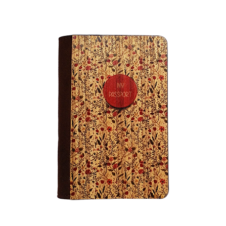 PC027 - Handmade Wooden Passport Cover - Floral Vintage/ Custom Fashionable Handmade Wooden Cover