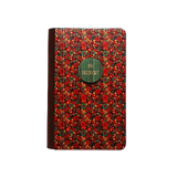 PC029 - Handmade Wooden Passport Cover - Floral Red/ Custom Fashionable Handmade Wooden Cover
