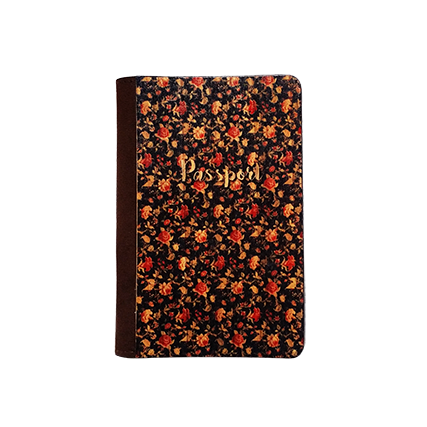 PC030 - Handmade Wooden Passport Cover - Floral Vintage/ Fashionable Handmade Wooden Cover