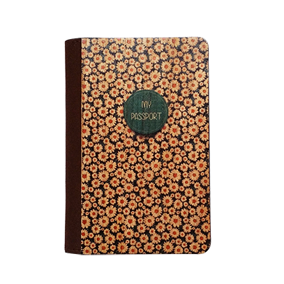 PC031 - Handmade Wooden Passport Cover - Floral Daisy/ Custom Fashionable Handmade Wooden Cover