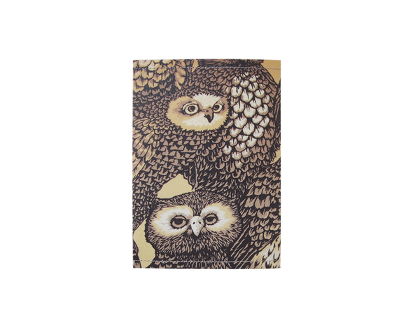 PP002 - Slim Passport Cover - Owl Passport Case