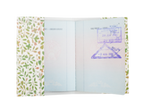 PP033 - Slim Passport Cover - Vintage Green Floral Passport Cover