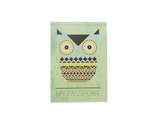 PP036 - Slim Passport Cover - Aztec Owls