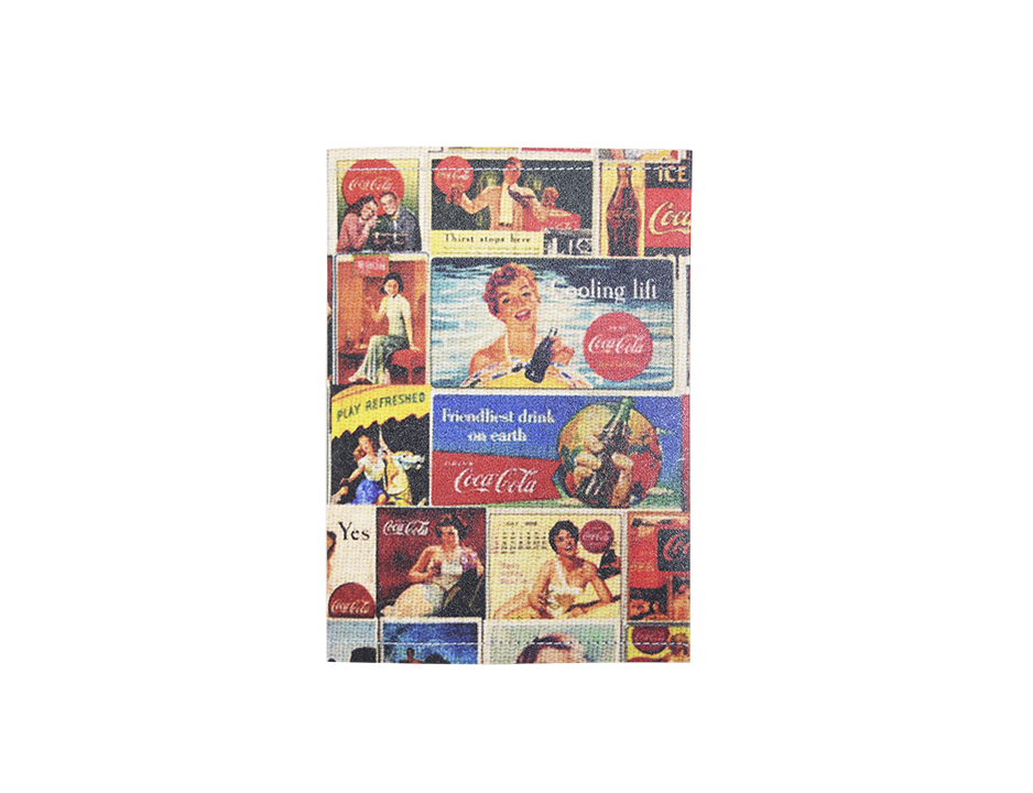 PP045 - Slim Passport Cover - Cocacola