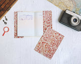 PP045 - Slim Passport Cover - Vintage Flower