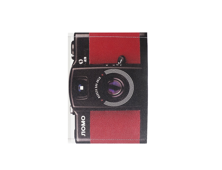 PP056 - Slim Passport Cover - Red Camera
