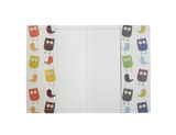 PP057 - Slim Passport Cover - Colorful Owls