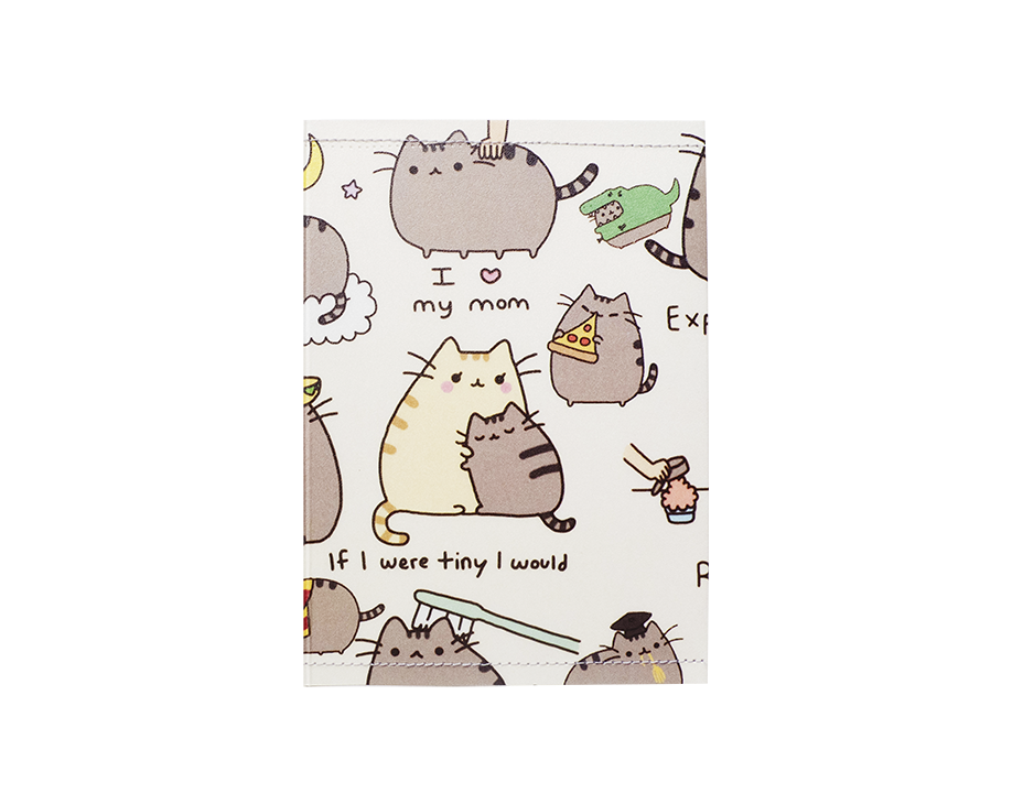 PP064 - Slim Passport Cover - Pusheen Cat