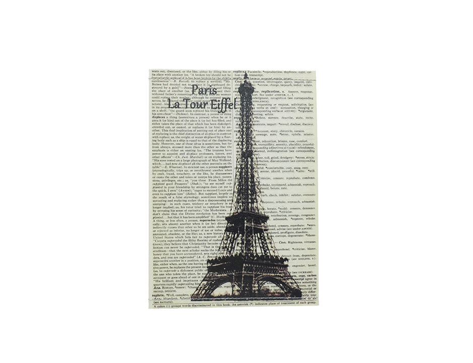 PP067 - Slim Passport Cover - Eiffel Tower
