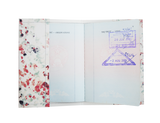 PP087 - Slim Passport Cover - Water Color Flowers
