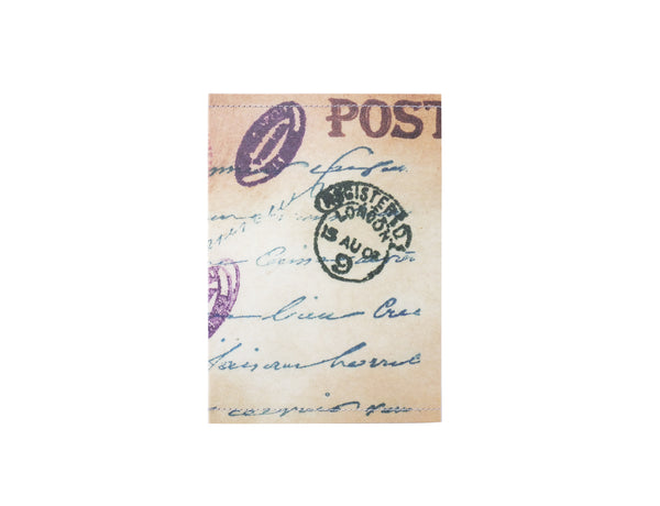 PP107 - Slim Passport Cover - Vintage Postcard