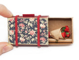 SC001 - Mini suitcase with Bouquet of Roses/  Black Floral