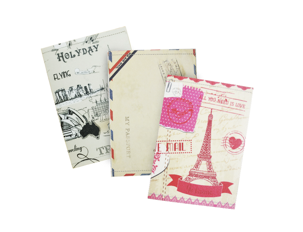 SE301 - Set of 3 Slim Passport Covers, Landmarks Passport Case