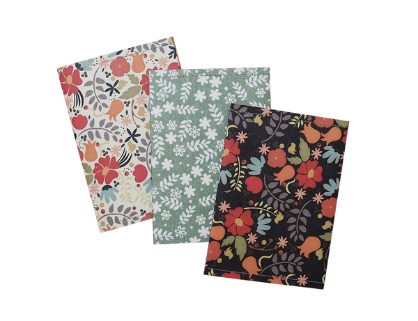SE303 - Set of 3 Slim Floral Passport Covers