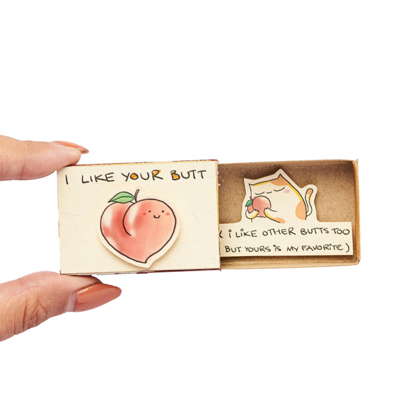 "LV132 - ""I Like Your Butt"" Matchbox Card"