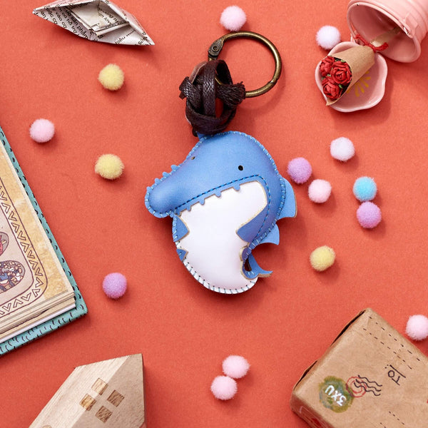 Blue Shark Leather Charm - PT068 - shop3xu