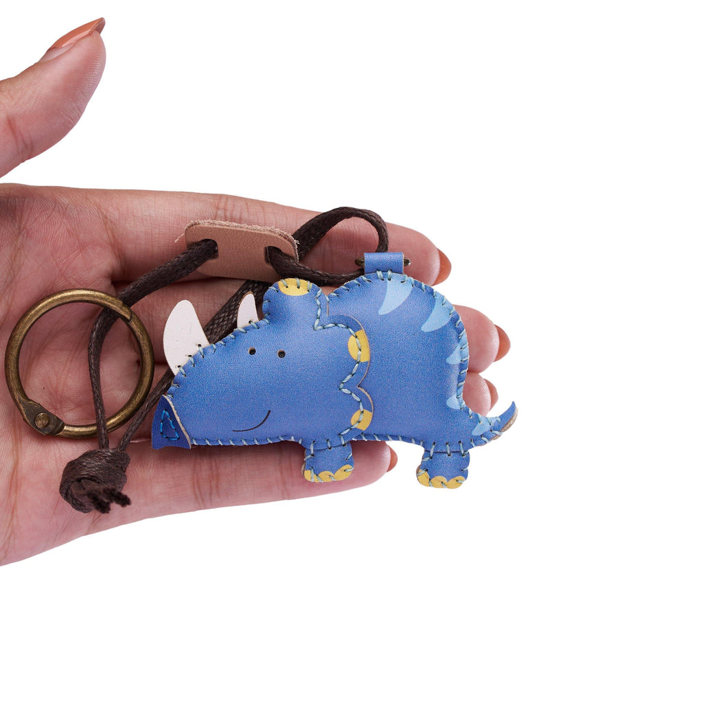 Triceratops Leather Charm - PT092