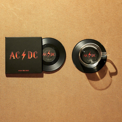 Vinyl Record Coasters, Set of 2, AC/DC High Voltage - CS027
